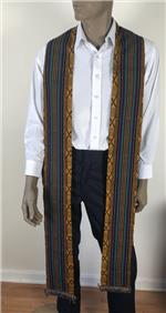 Triple-stripes Kente Scarf