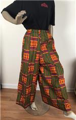 Long-Relax Kente-print Pants